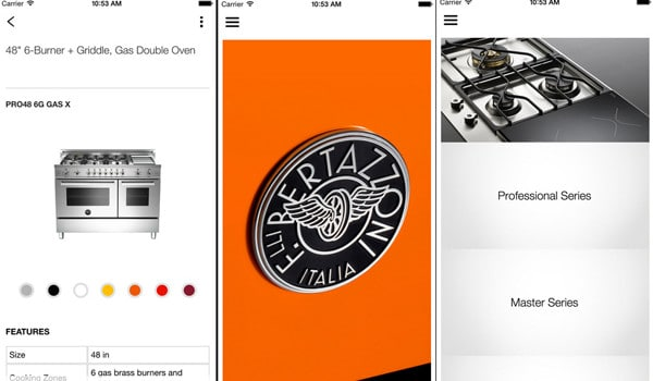 The Bertazzoni App for iPhone, iPad, and Android devices