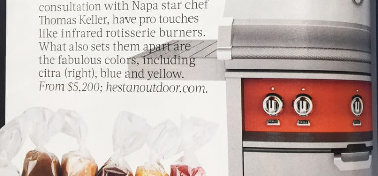 Hestan Outdoor Grill Featured in Food and Wine Magazine