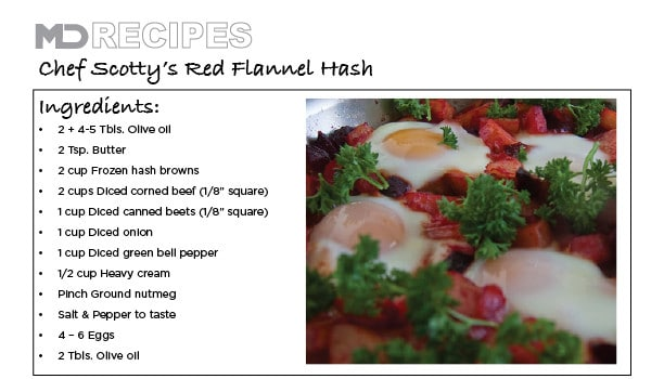 Chef Scotty's Red Flannel Hash