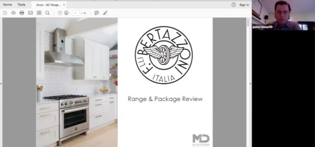 Bertazzoni Ranges Webinar with Peter Snow